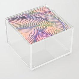 Palm Leaves Pattern - Purple, Peach, Blue Acrylic Box