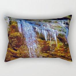 Hocking Hills, Old Mans Cave in December Rectangular Pillow