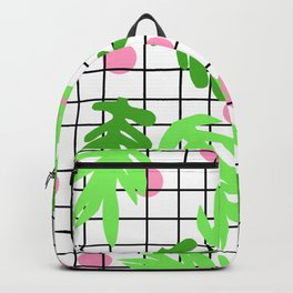 Anja - botanical house plant nature urban home garden hipster grid black and white trendy  Backpack