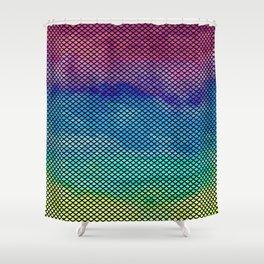Rainbow Mermaid Tail Shower Curtain