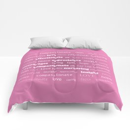 Fun With Colour & Words - Pink Comforters