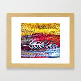 Impression Prairie Feather Framed Art Print