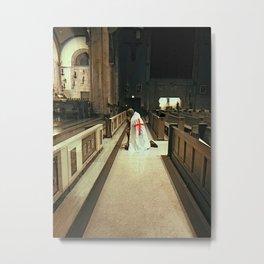 Praying Knight Templar Metal Print