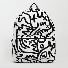 Graffiti Street Art Black and White Backpack
