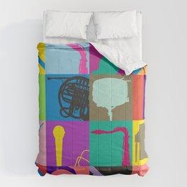 Pop Music Art Comforters