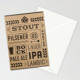 Type beer Stationery Cards