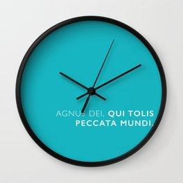 Agnus dei, qui tolis peccata mundi. Wall Clock