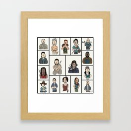 The Walking Dead 16 Character Collage Framed Art Print