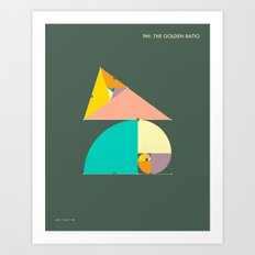 Phi: The Golden Ratio Art Print
