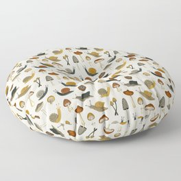 mushrooms & snails Floor Pillow