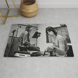 Keith and Mick Poster, Rolling Stones, Classic Rock Rug