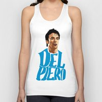 juventus Tank Tops featuring Del Piero Name Blue by Sport_Designs