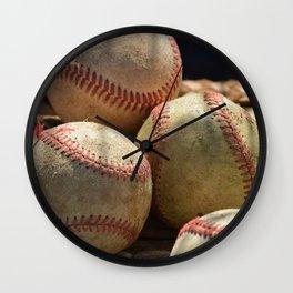 Baseballs and Glove Wall Clock