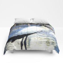 Wood Stork Comforters