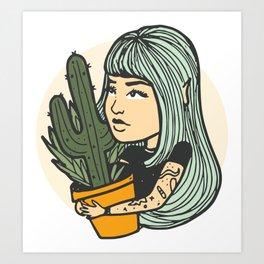 Cacti Girl Art Print