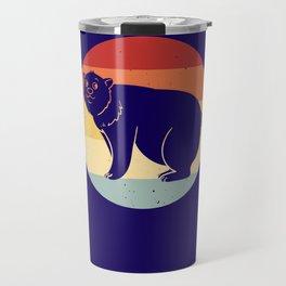 Polar Bear Ice Bear Vintage Retro Travel Mug