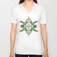 hummingbird V-neck T-shirts featuring hummingbird  by Manoou
