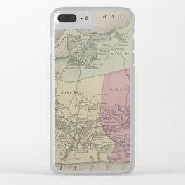 Vintage Map of Southampton NY (1873) Clear iPhone Case