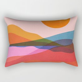 Abstraction_OCEAN_Beach_Minimalism_001 Rectangular Pillow
