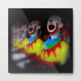 Laughing Clowns Metal Print