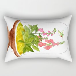 Foxglove Terrarium Rectangular Pillow