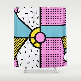 Retro Vibes Shower Curtain