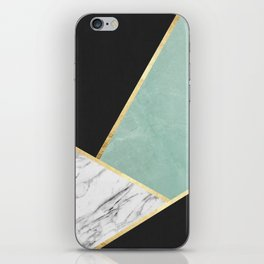 Art with marble V iPhone Skin