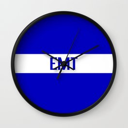 EMT: The Thin White Line Wall Clock