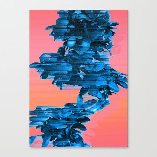 Velocious Blue Little Tree Canvas Print