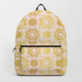 Luxe Rose Gold Star Damask Pattern Seamless Vector Repeat Drawn Backpack