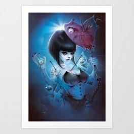 2016 Horror Girl Art Print