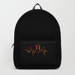 Volleyball Heartbeat Cool Gift for Sport Lovers Premium graphic Backpack