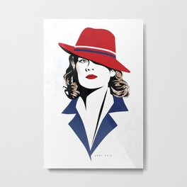 Peggy Carter Metal Print