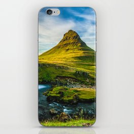 Triple waterfalls of Kirkjufell in Iceland I iPhone Skin
