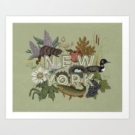 New York State Art Print