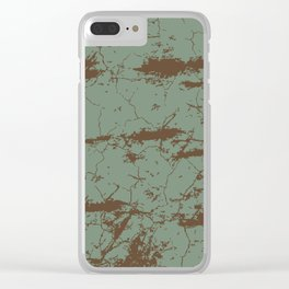 cracked concrete vintage wall background,old wall Clear iPhone Case