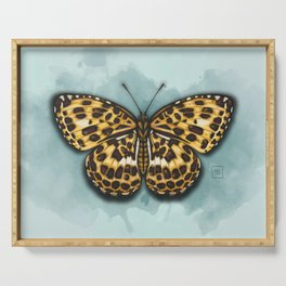 Timelaea Albescens. Big yellow butterly. Moth Serving Tray