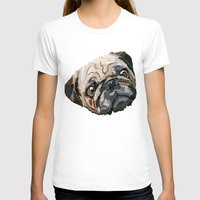 pug T-shirts featuring pug by Ancello