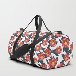 Pomegranate and hibiscus herbal pattern Duffle Bag