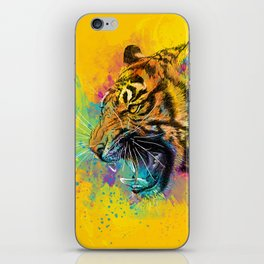 Angry Tiger iPhone Skin