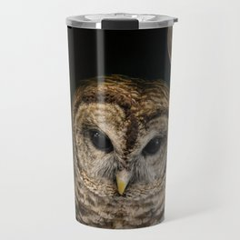 Barred Owl and the Moon Travel Mug