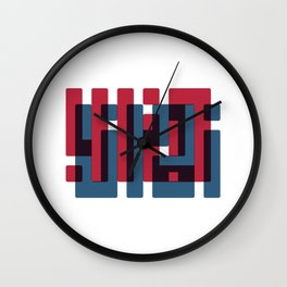 zamana kharab Wall Clock