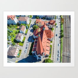 Church from above Art Print