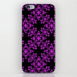 Dazzling Violet Vintage Brocade Damask iPhone Skin