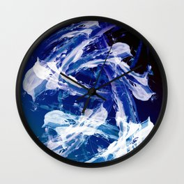 Snowy Abstract Painting Wall Clock