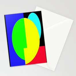 GETTING IN SHAPE - FUN SHAPED GEOMETRIC MULTI COLOURED DESIGN Stationery Cards