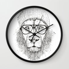 Cool lin (bw) Wall Clock