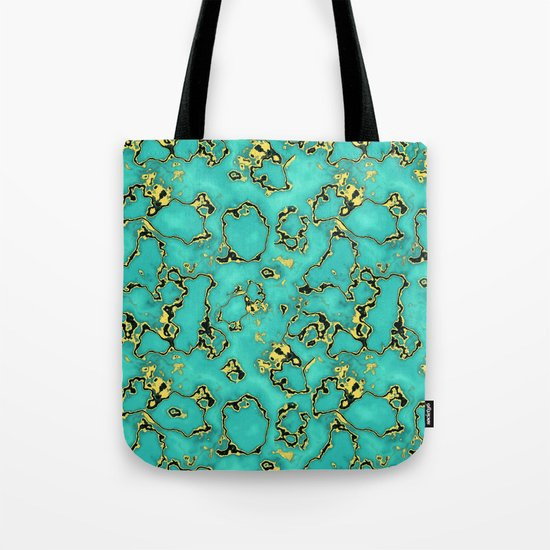 GOLD TURQUOISE Tote Bag