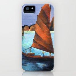 Junks In the Descending Dragon Bay iPhone Case