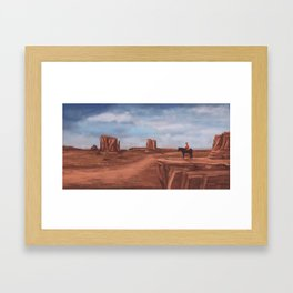 A desert affair Framed Art Print